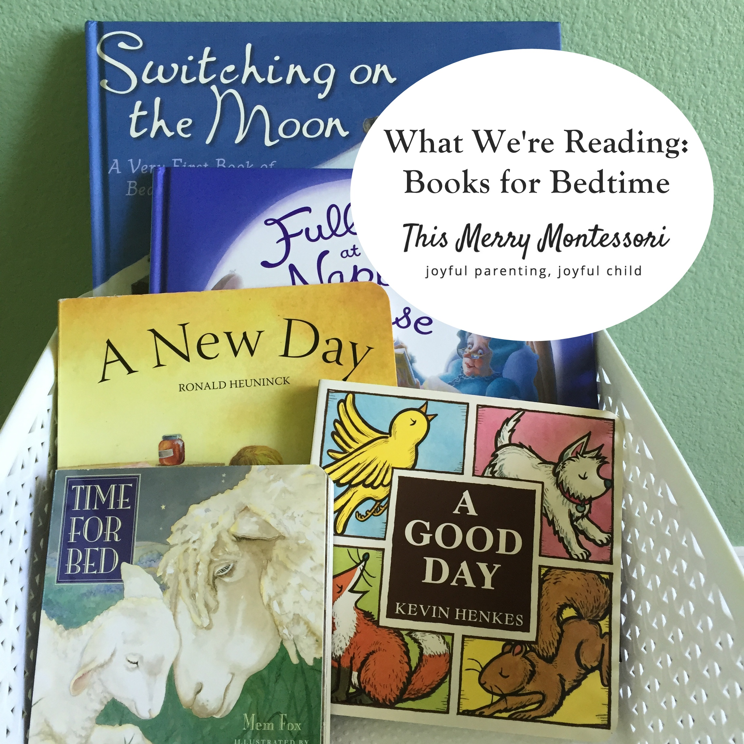 What We're Reading- Books for Bedtime--TMM