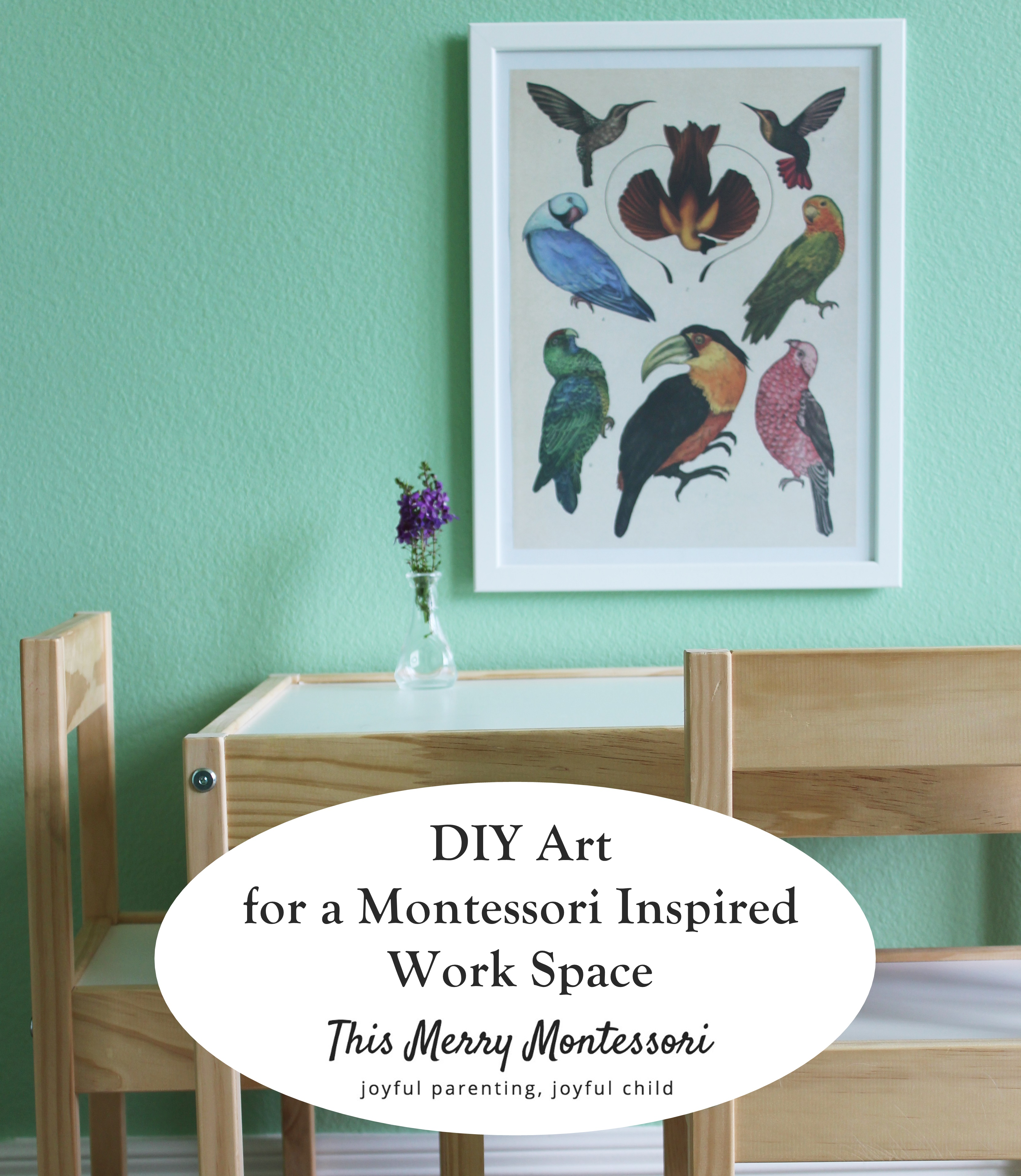 This Merry Montessori--DIY Art for a Montessori Inspired Work Space