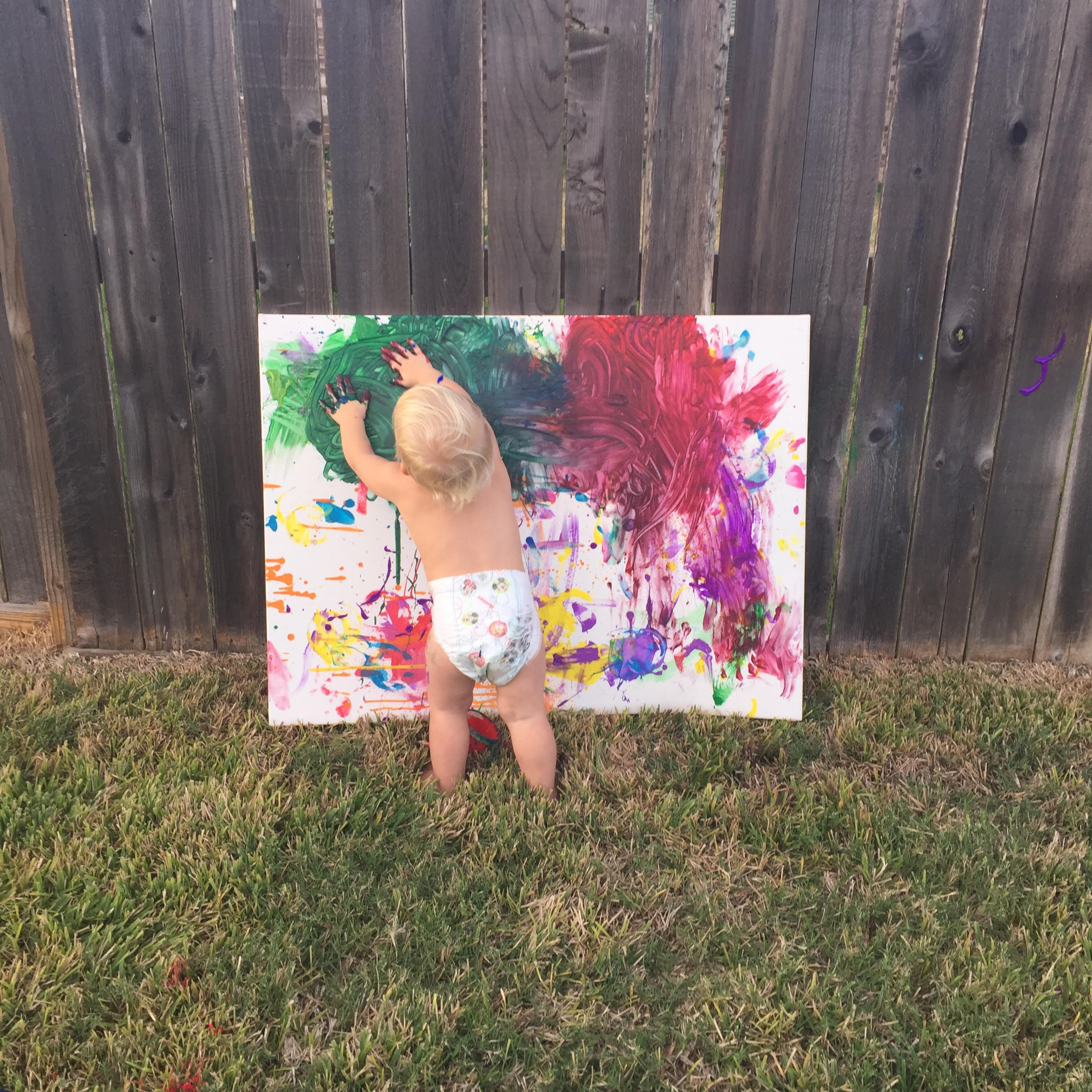 Why I Give My One Year Old a Blank Canvas – This Merry